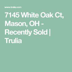 7145 White Oak Ct, Mason, OH - Recently Sold   Trulia Mason Oh, Thing 1, White Oak, Ohio, Bath, Columbus Ohio, Bathing, Bathroom, Bathtub