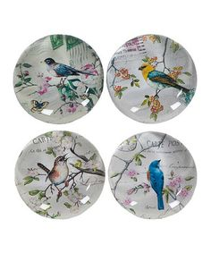 Take a look at this Crystal Bird Magnet Set by Designs Combined Inc. on #zulily today!