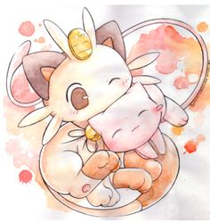 Mew and Meowth