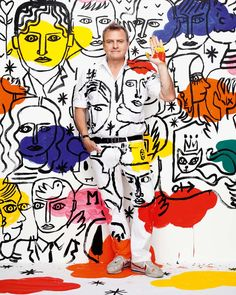 On the occasion of the second edition of the Fubiz Talks, we will have the pleasure to welcome fashion designer Jean-Charles de Castelbajac. Fashion Art, Fashion Design, Art Graphique, Fashion Sketches, Art Direction, Diy Clothes, Wearable Art, Line Art, Pop Art