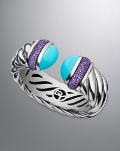 Waverly Bracelet with Turquoise by David Yurman at Neiman Marcus.