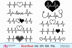 Heartbeat Valentine's Day SVG by PolpoDesign on Tattoo Mama, Mom Tattoos, Small Tattoos, Nursing Tattoos, Ekg Tattoo, Tatoos, Geniale Tattoos, Heart Tattoo Designs, Elements Of Art