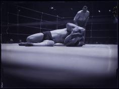 Martin Munkacsi - Wrestlers Sandor Szabo and Jim Browning. Martin Munkacsi, Man Watches, Browning, Monochrome, Gay, Wrestling, Ring, Sports, Lucha Libre