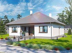 Projekt domu Tryton teriva 98,96 m2 - koszt budowy 207 tys. zł - EXTRADOM One Storey House, Home Design Plans, Design Case, Home Fashion, Home Projects, Gazebo, House Plans, Cottage, House Design