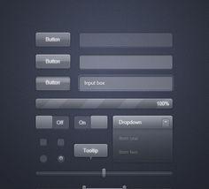 50+ PSD UI Web Design Elements