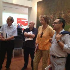 Gadaleda, Polveroni e Buonomo -giuria del Premio Michetti - stanno selezionando il vincitore