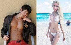 Barbie (Valeria Lukyanova) and Ken (Justin Jedlica)