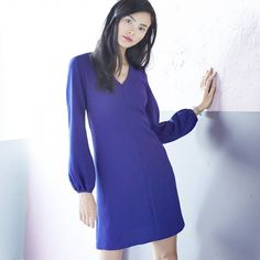 Love the shift dress? Try it in a bright color, like cobalt, or with something extra, like constructed sleeves.