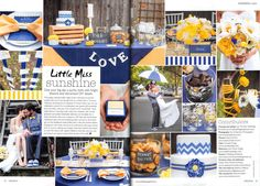 Now that is how to do a bright, sunny colour scheme! From Wedding magazine's April/May issue.