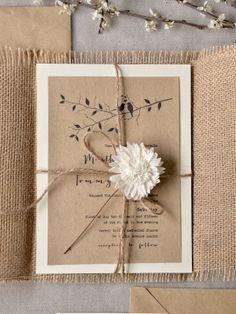 Invitacions flor blanca