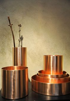 copper vase collection