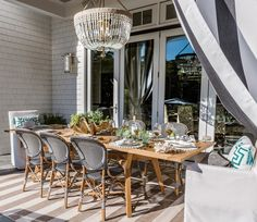 Covered porch designed by Erin Gates Design