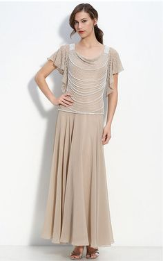 Champagne Sheath Floor-length Scoop Dress [Dresses 9290] - $171.00 : - KissPromGirl.com