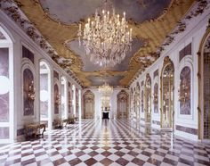 The New Palace or Neues Palais is a palace situated on the western side of the Sanssouci royal park in Potsdam, Germany. Cool Mansions, Neues Palais, Potsdam Germany, Beautiful Homes, Beautiful Places, New Palace, Hallway Designs, Throne Room, Royal Residence