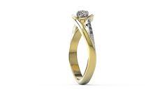 Pierścionek z żółtego złota z szafirami i diamentami/ Ring made from yellow gold with sapphires and diamond #diamonds #sapphires #ring #gold #jewellery