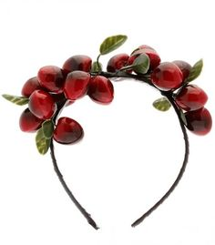 Cherries and Manhattan cocktails are a natural pairing, but when it comes to hair accessories, do cherries and headbands make a similarly nice match? Cherry Boom, Cherry On Top, Cherry Cherry, Head Wrap Headband, Black Headband, Red Hair Accessories, Fashion Accessories, Alice Band, Cocktail Hat