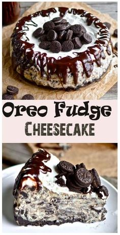"""BEST Oreo Fudge Cheesecake - Recipes Instant You're probably thinking to yourself, """"My goodness. What an incredibly rustic looking cheesecake that is.""""Well, that's what twenty dollars . Yummy Treats, Sweet Treats, Yummy Food, Delicious Deserts, Fudge Recipes, Baking Recipes, Cookie Recipes, Oreo Fudge, Oreo Cake"""