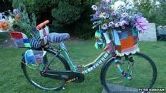 bicycle coverd with flowers - Yahoo! Image Search Results