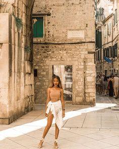 This gladiator is ready to fight —— Golden Gate, Split (Croatia) Travel Style, Travel Fashion, Split Croatia, Gap Year, Golden Gate, Traveling By Yourself, Lifestyle, Lady, Destinations