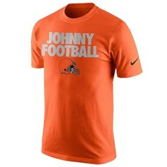 Johnny Manziel Cleveland Browns Nike Johnny Football QT T-Shirt - Orange