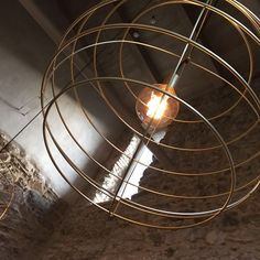 The Sphere 24 Pendant Light has been designed by Joan Lao for Zaneen. Metal rod with different balls is formed in four diameters. the metal finishing can be decorated in brass, pewter or bronze. the electrical part is composed of 27 and LED filame. Wall Lights, Ceiling Lights, Natural Stones, Pendant, Design, Home Decor, Google, Image, Trends