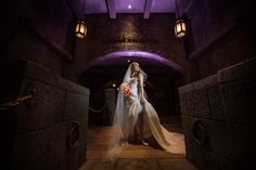Ready for her new adventure in front of Pirates of the Caribbean in Disney's Magic Kingdom. Photo: Stephanie, Disney Fine Art Photography