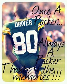 Donald Driver = Packer For Life