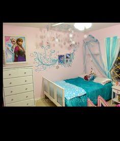 Cool frozen bedroom