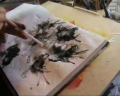 This link has lots of art journal video tutorials (by several artists).  *Love the idea of dropping paint on and blowing with the straw!  And the poetry tiles would make a great page effect!