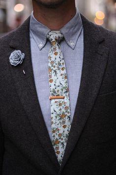 Flower print  flower pin