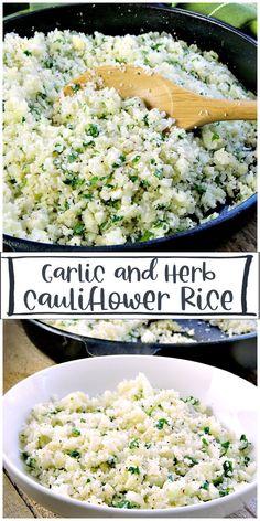 Best Cauliflower Rice Recipe, Cauliflower Side Dish, Tasty Cauliflower, Rice Side Dishes, Healthy Side Dishes, Vegetable Side Dishes, Rice Recipes Vegan, Vegetarian Recipes, Healthy Recipes