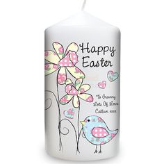 Personalised Daffodil Chick Easter Candle  from Personalised Gifts Shop - ONLY £9.95