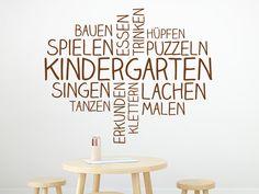 Das Wandtattoo Wortwolke Kindergarten hier entdecken. ❤ Spitzenqualität aus Deutschland | schnelle Lieferung | portofrei (D) bei WANDTATTOO.DE bestellen!