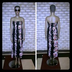 Dresses & Skirts - Nice strapless maxi dress with roses