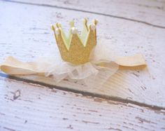 Princess Crown with Pearls 2 by 3 Crown by HairbowSuppliesEtc