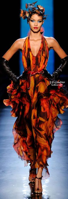 Loving the Jean Paul Gaultier Spring 2014 Couture - The hair butterflies are amazing ♥