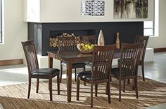 Ashley Furniture Signature Design  Mallenton Rectangular 7Piece Dining Room Set  Inclues Table  6 Chairs  Medium Brown ** Read more at the image link.-It is an affiliate link to Amazon. #DiningSets
