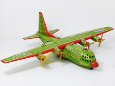 1950-60 US Air Force USA Tada Military Lockheed C-130 Aircraft Airplane Tin Toy