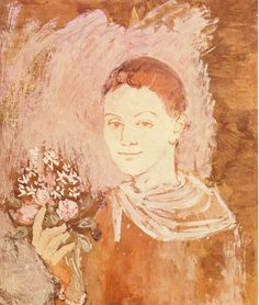 """Boy with Bouquet of Flowers in His Hand"".Artist: Pablo Picasso Completion Date: 1905 Style: Post-Impressionism Period: Rose Period Genre: genre painting. Pablo Picasso Artwork, Kunst Picasso, Art Picasso, Picasso Paintings, Picasso Blue, Picasso Rose Period, Illustrations, Illustration Art, Cubist Movement"
