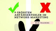 Die 9 Größten Anfängerfehler im Network Marketing - welche Du nicht tun solltest #mlm #networkmarketing #strukturvertrieb