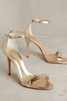 Schutz shoes are great if your feet are on the wider side. These are so cool, I see them with a pretty Jade something or with cropped skinny denim and a sexy strappy top. Schutz Cadey-Lee Heels #anthropologie