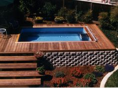 Above Ground Pool Ideas - In the summer, people like spending few hours in the swimming pool. However, you may hate the way your above ground pool looks in your backyard. Small Swimming Pools, Small Pools, Swimming Pools Backyard, Swimming Pool Designs, Lap Pools, Small Backyards, Above Ground Pool Decks, In Ground Pools, Pool Spa