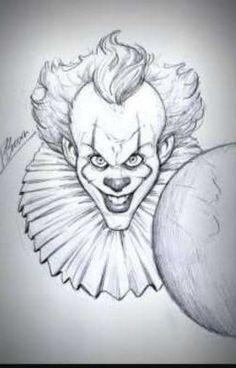 IT sketch giveaway by PatrickBrown - - Zeichnung IT-Skizzen-Wer Scary Drawings, Joker Drawings, Halloween Drawings, Marvel Drawings, Dark Art Drawings, Pencil Art Drawings, Art Drawings Sketches, Halloween Art, Joker Sketch