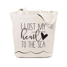 809f431ba16 I Lost My Heart to the Sea Cotton Canvas Beach