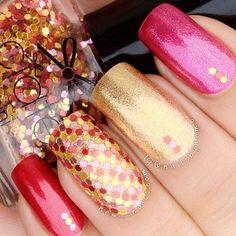 Blue glitter french nails - http://yournailart.com/blue-glitter-french-nails/ - #nails #nail_art #nail_design #nail_polish