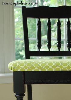 Good info to have.... How to upholster dining chairs