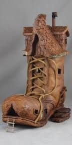 Awesome Shoe...'There once was a woman who lived in a shoe, she had so many children she didn't know what to do....'I think they're all out at the moment!