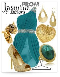 Jasmine inspired bridesmaids dress, wish it was purple
