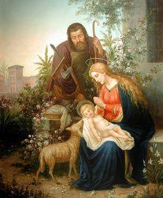 The Holy Family of Jesus, Mary, and S. Joseph