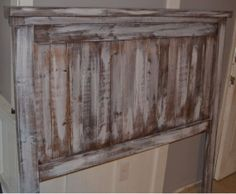 Rustic White Wash Queen Headboard  Special Sale by ShopLDTC, $100.00